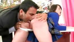 Hotie teen getting opening licked and she is sucking on a tough stiff boner