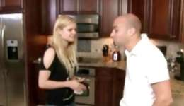 See how this rude guy fucks his girlfriend right in the kitchen