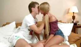 Fine looking little blonde lady is getting pussy penetrated from behind