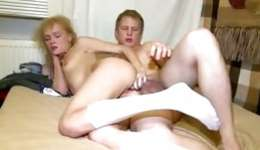 Misbehaving shaggy blonde taking enjoyment from anal sexual intercourse