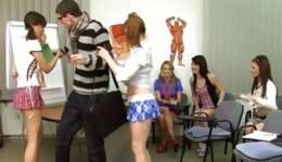 Watch licentious and marvelous students learning anatomy in real situation